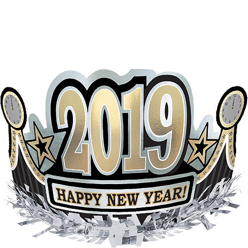 black gold silver 2019 happy new years crown