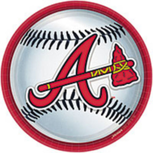 Atlanta Braves Lunch Plates 18ct