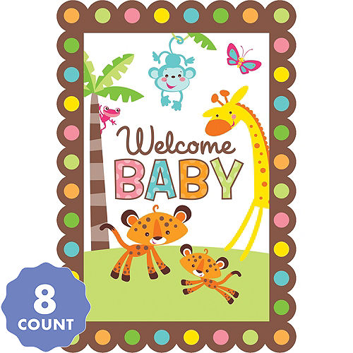 Fisher Price Jungle Baby Shower Invitations 8ct