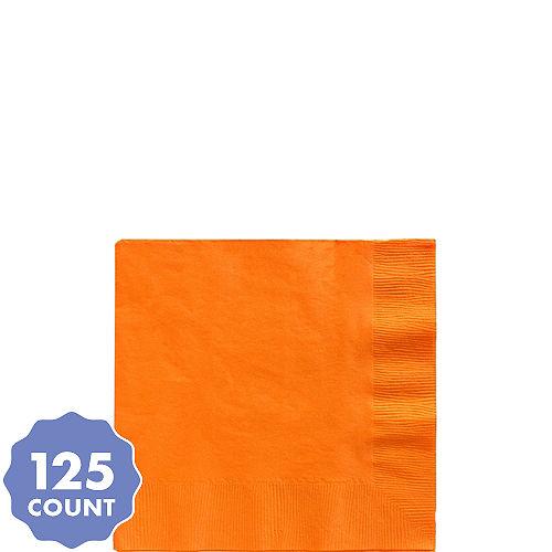 Big Party Pack Orange Beverage Napkins 125ct