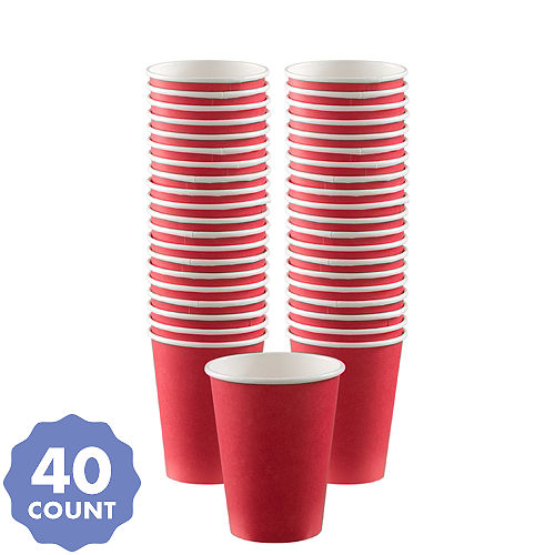 Bogo Red Paper Coffee Cups 40ct