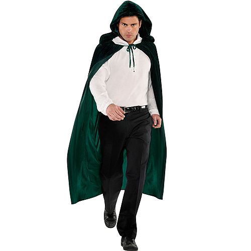 ebb28ec136 Adult Forest Green Hooded Cape