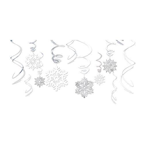 Snowflake Swirl Decorations 12ct