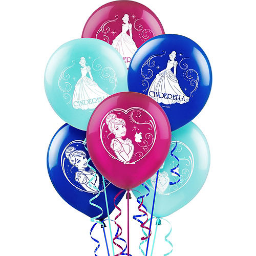 Cinderella party supplies birthday decorations party city cinderella balloons 6ct watchthetrailerfo