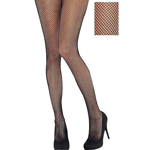 f17d1a7be4a Adult Classic Black Fishnet Pantyhose