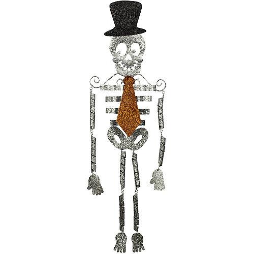 hanging glitter skeleton