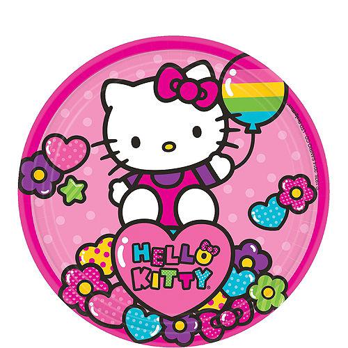 Rainbow Hello Kitty Dessert Plates 8ct
