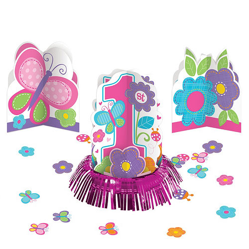 Sweet Girl 1st Birthday Table Decorating Kit 23pc