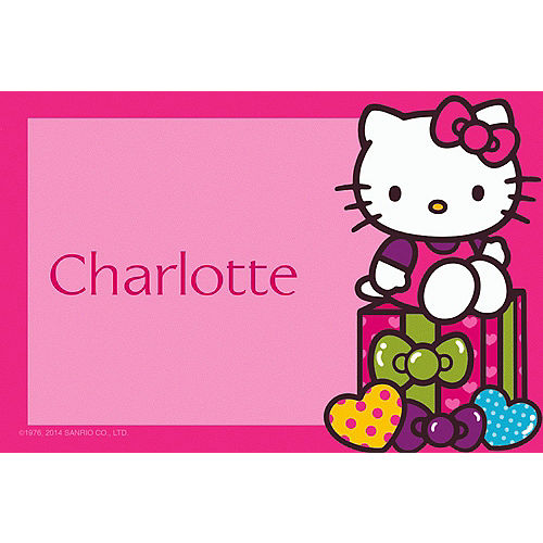 Custom Hello Kitty Rainbow Thank You Notes