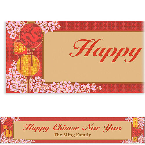 custom chinese new year blessings banner 6ft