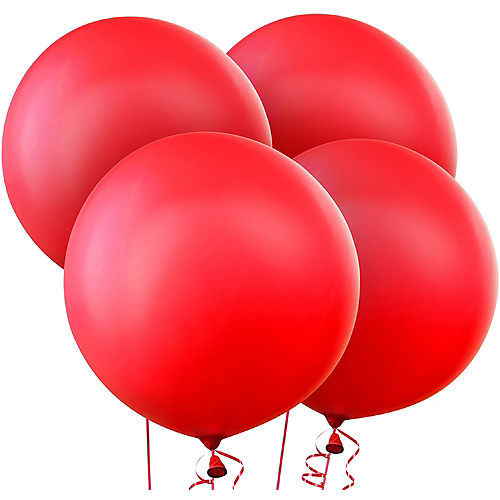 Red Balloons 4ct, 24in