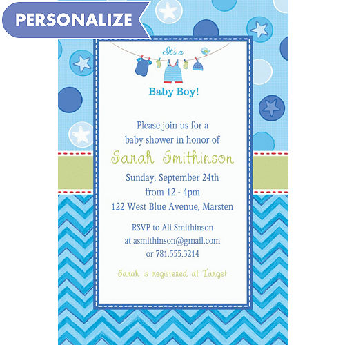 Baby shower invitations printable baby shower invitations party city custom shower with love boy invitations filmwisefo