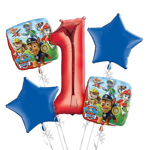 PAW Patrol 1st Birthday Balloon Bouquet 5pc