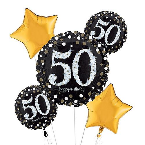 50th Birthday Balloon Bouquet 5pc