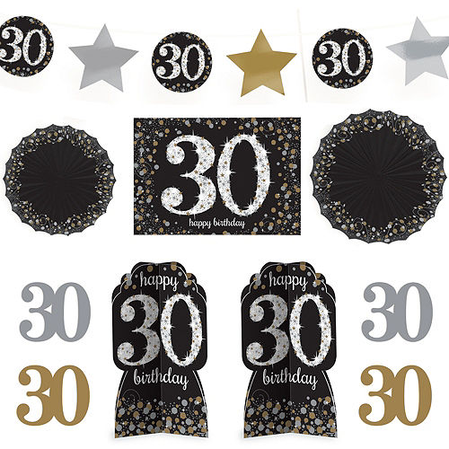 30th Birthday Room Decorating Kit 10pc