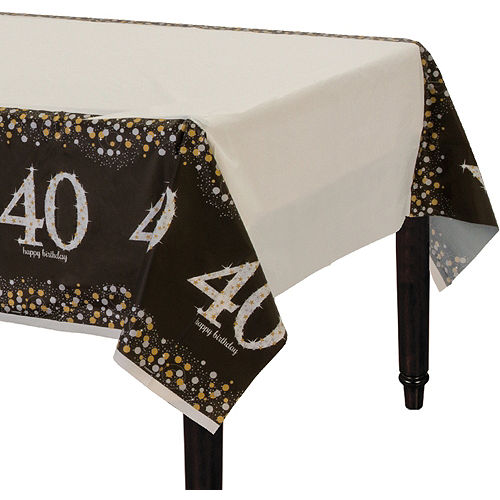 40th Birthday Table Cover