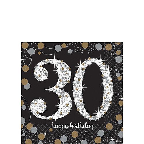 30th Birthday Beverage Napkins 16ct