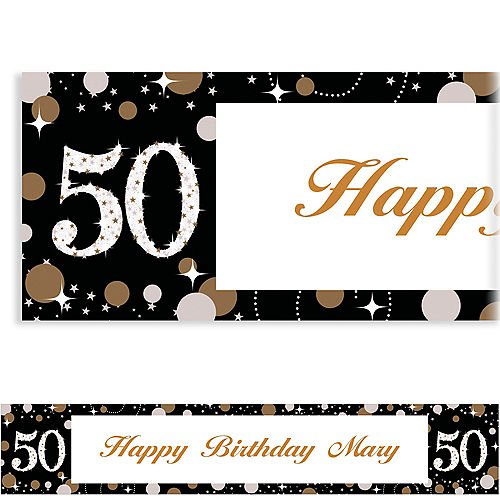 Custom Sparkling Celebration 50 Banner