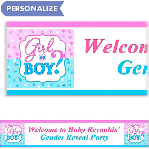 Custom baby shower invitations baby shower invites party city custom girl or boy gender reveal banner filmwisefo
