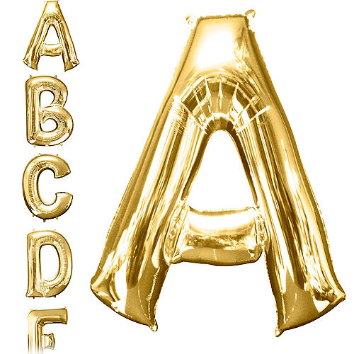 34in Gold Letter Balloon A