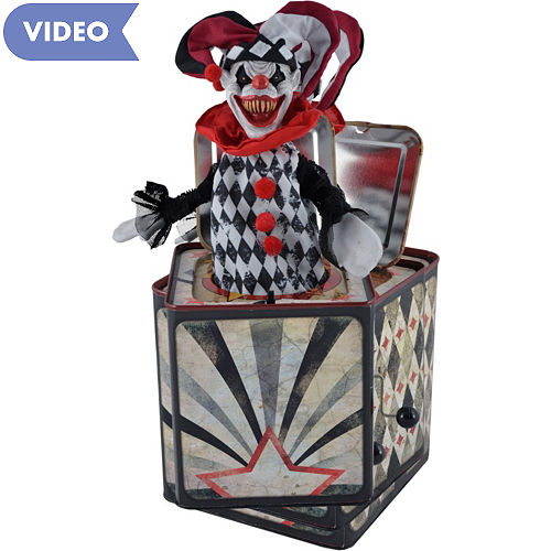 animated creepy jester jack in the box - Jack In The Box Open Christmas Day