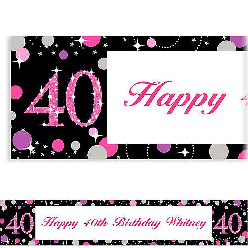Custom Pink Sparkling Celebration 40 Banner