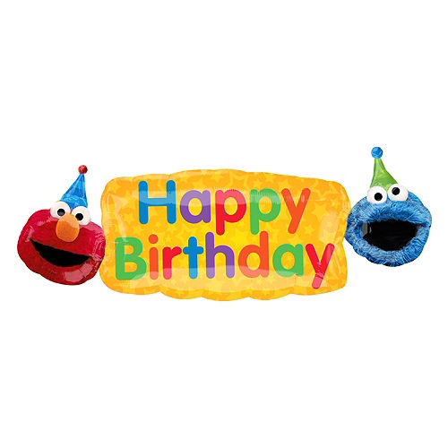 giant sesame street birthday banner balloon
