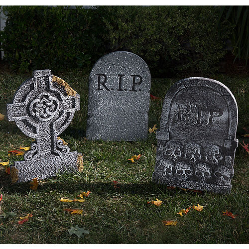 Halloween Tombstones Cemetery Decorations