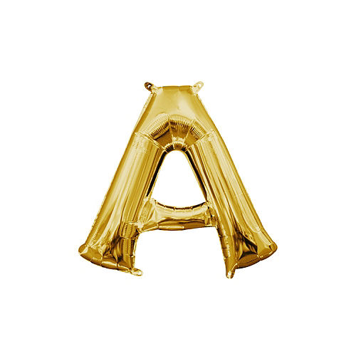 203b17cbf3 13in Air-Filled Gold Letter Balloon (A)