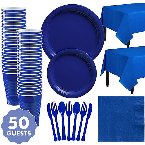 Royal Blue Tableware Royal Blue Party Supplies Party City