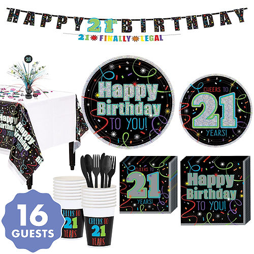 Brilliant 21st Birthday Party Kit For 16 Guests