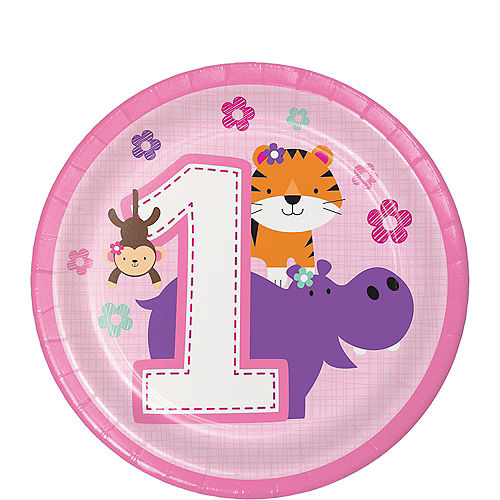49e6946f7 Pink One is Fun 1st Birthday Party Supplies - Jungle Birthday Party ...