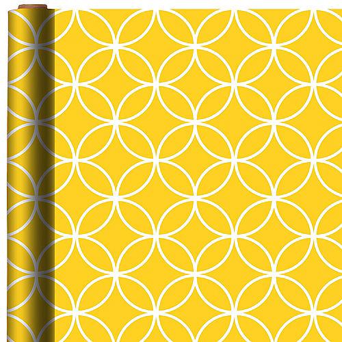 Sunshine Yellow Overling Circles Gift Wrap