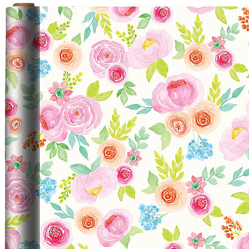 Floral gift wrap 16ft x 30in party city canada floral gift wrap mightylinksfo