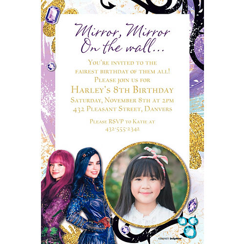 Custom Descendants 2 Photo Invitation
