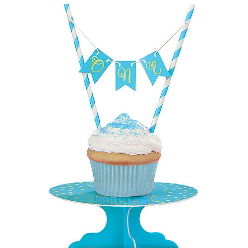 In Store Pickup Mini Blue 1st Birthday Cake Stand Kit 2pc