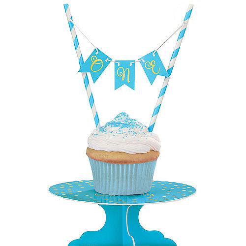 Mini Blue 1st Birthday Cake Stand Kit 2pc