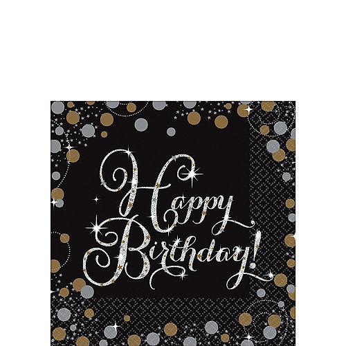 Happy Birthday Beverage Napkins 16ct