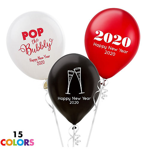 Personalized New Years Latex Balloon