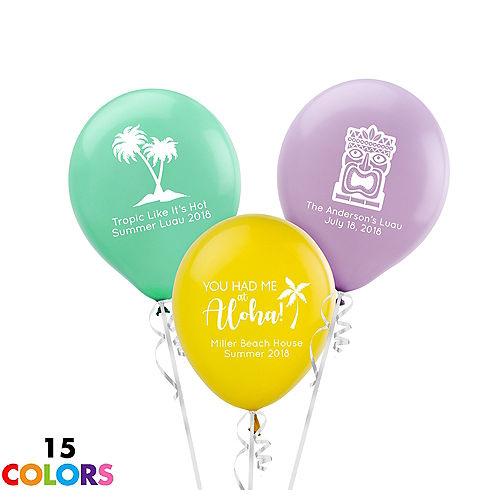 Personalized Luau Latex Small Balloon
