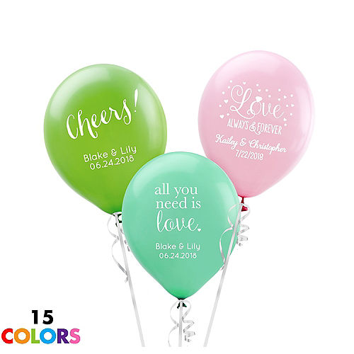 Personalized Wedding Latex Small Balloon