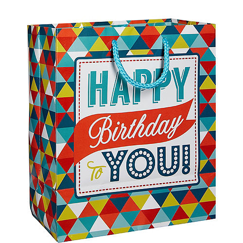 Colorful Triangles Birthday Gift Bag