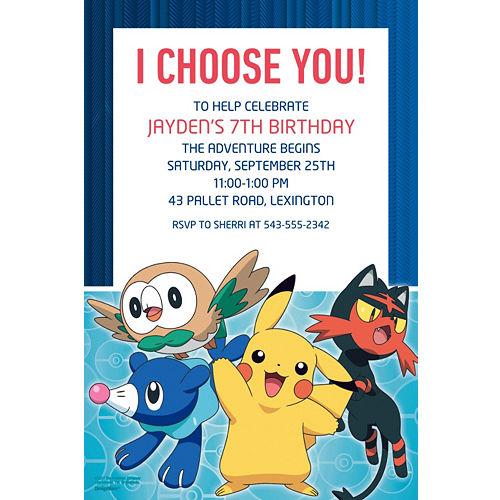 Custom Pokemon Core Invitations