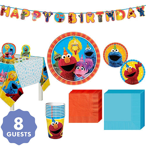 Sesame Street Tableware Party Kit For 8 Guests