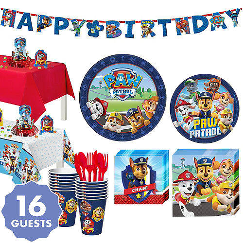 Paw Patrol Tableware Party Kit For 16 Guests