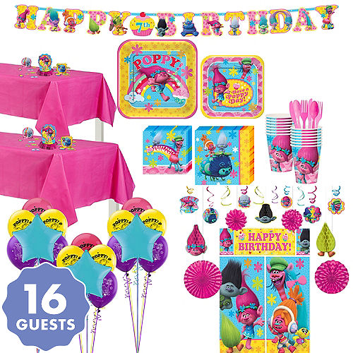 Trolls Tableware Ultimate Kit For 16 Guests