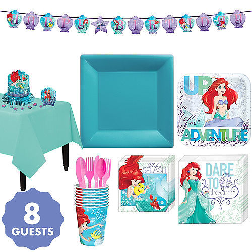 Little Mermaid Tableware Party Kit For 8 Guests