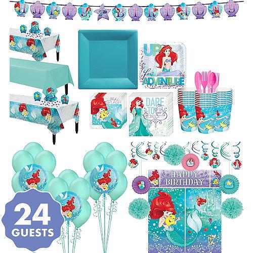 Little Mermaid Tableware Ultimate Kit For 24 Guests