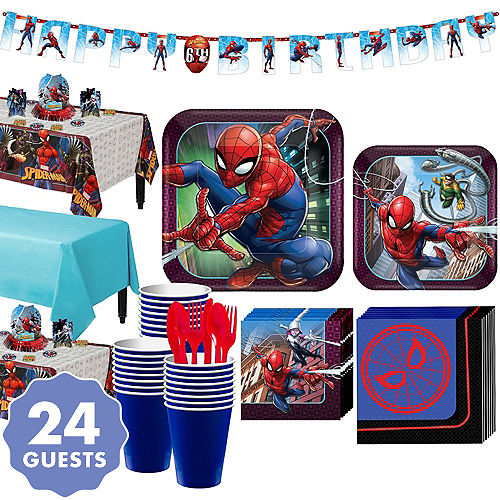 Ultimate Spider Man Tableware Party Kit For 24 Guests