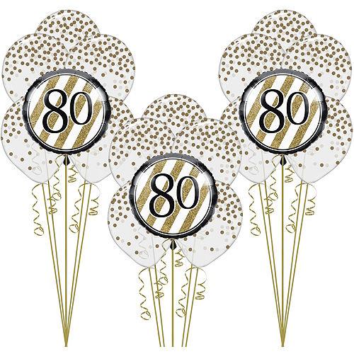 White Gold 80th Happy Birthday Balloon Kit